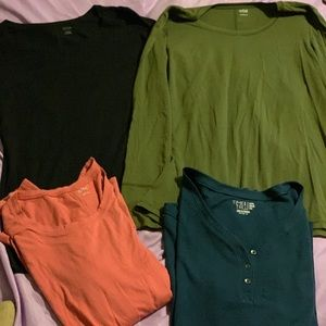 Bundle of 4 long sleeve super soft tops